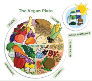 Vegansk tallerken